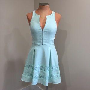 E x p r e s s • lace Zipper fit + flare dress • 4